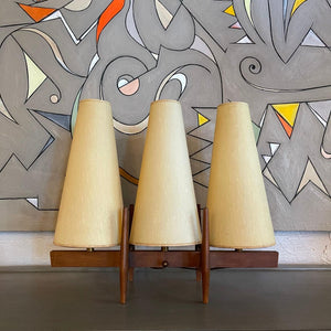 Mid Century Modern Three Shade Table Lamp By John Keal For Modeline