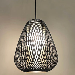 Mid Century Modern Woven Birch Pendant Light