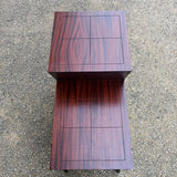 Two-Tier Mahogany Side Table