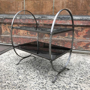 Etched Steel Side Table