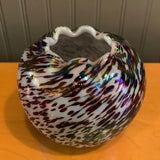 Petite Speckled Hand-Blown Glass Vase