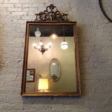 Giltwood Plumed Mirror