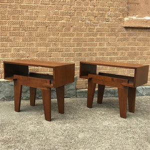 Mid-Century Walnut End Tables