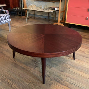 Mid Century Modern Round Mahogany Coffee Table