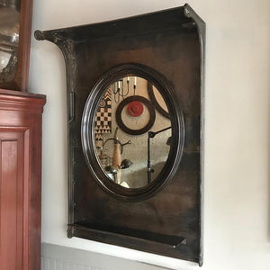 Custom Industrial Entryway Foyer Mirror