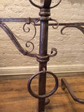 Gothic Wrought Iron Andirons in the Style of Samuel Yellin