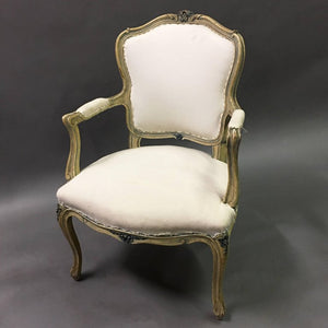 Carved Louis XVI Armchair