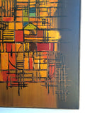 Large Mid Century Abstract Painting