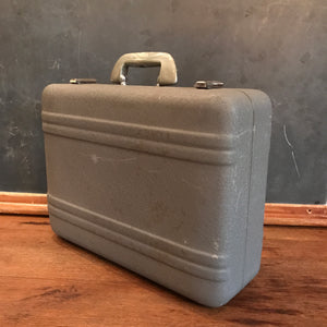 Gray Textured Briefcase