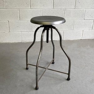 Industrial Early 20th Century Apothecary Swivel Stool