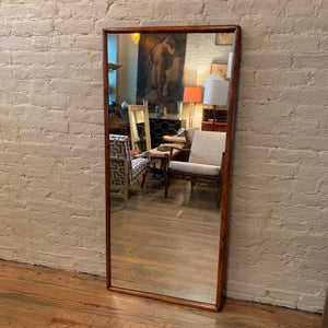 Maple Framed Wall Mirror Attributed To T.H. Robsjohn-Gibbings