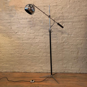 Robert Sonneman Chrome Eyeball Extension Arm Floor Lamp