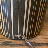 Art Pottery Brown Striped Table Lamp By Gordon Martz For Marshall Studios