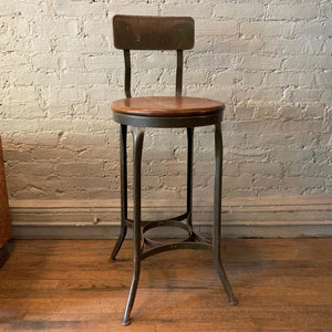 Tall Industrial Shop Stool By Toledo Metal Furniture Co.