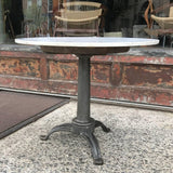 Marble and Cast Iron Table