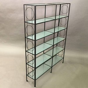 Iron and Glass Etagere