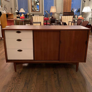 Mid Century Modern Walnut Credenza By Mainline For Hooker