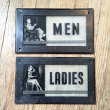 Art Deco Bathroom Signs