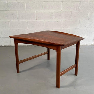 Scandinavian Modern Tapered Teak Side Table By Folke Ohlsson For DUX
