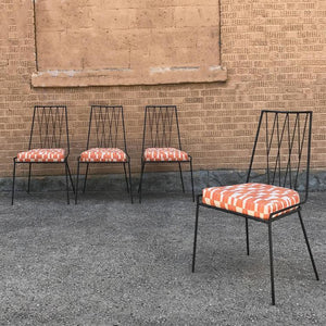 Wrought Iron Chairs by Paul McCobb For Arbuck