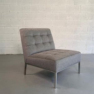 Mid Century Modern Upholstered Slipper Chair By Florence Knoll
