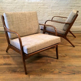 Adrian Pearsall Maple Lounge Chairs