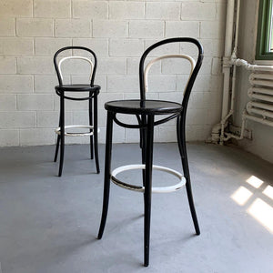 Black And White Bentwood Bistro Bar Stools