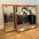 Pair of Oak Mirrors