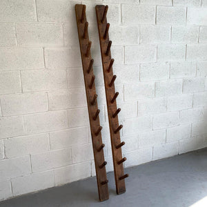 Rustic Industrial Pegged Pine Wall Racks
