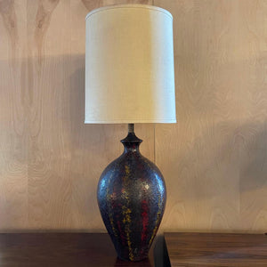 Midcentury Brutalist Art Pottery Table Lamp