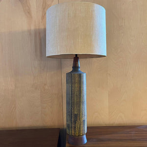 Tall Mid Century Modern Art Pottery Table Lamp