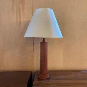 Danish Modern Teak Cylinder Table Lamp
