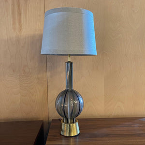 Mid Century Modern Striped Glass Table Lamp
