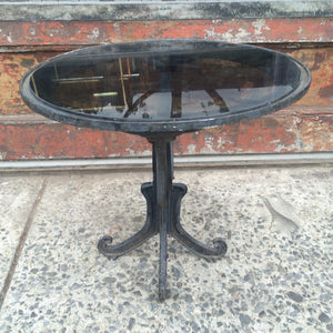 Cast Iron And Glass Table