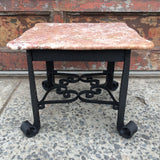 Wrought Iron And Marble Table