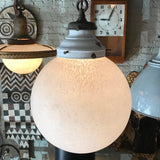 Industrial Frosted Globe Pendant Light