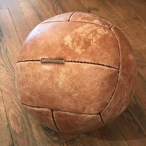 Tan Leather Medicine Ball