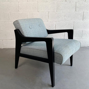 Black Lacquered Lounge Chair By Edward Wormley For Dunbar
