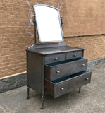 Simmons Steel Dresser And Mirror