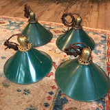 Green Enamel Tin Pendants