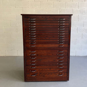 Industrial Quarter Sawn Oak Machinist Utility Cabinet