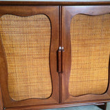 Mahogany and Rattan Dresser