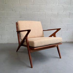 Scandinavian Modern Z Lounge Chair Designed By Poul Jensen