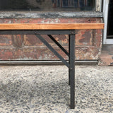 Industrial Maple Angle Iron Bench