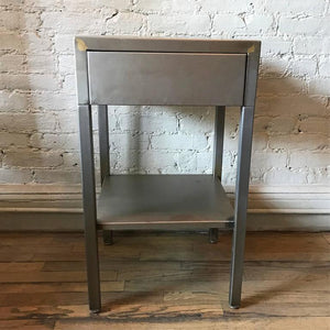 Brushed Steel Side Table