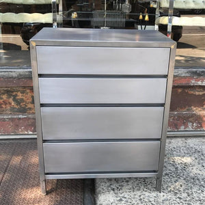 Brushed Steel Dresser