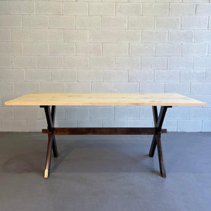 Country Farm Trestle Dining Table