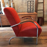 Art Deco Chrome Lounge Chair