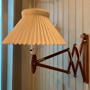 Erik Hansen For Le Klint Teak Scissor Wall Sconce Light