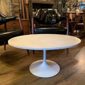 Oval Marble Tulip Base Coffee Table